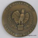 Recrutement Armée de Terre (bronze) Médaille 65 mm
