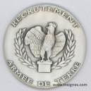 Recrutement Armée de Terre (argentée) Médaille 65 mm