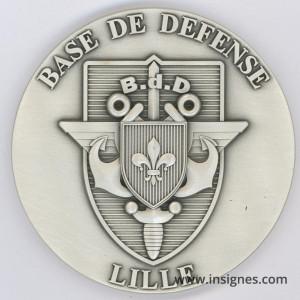 Base de Défense LILLE Médaille 70 mm