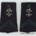 Tissu Fourreaux ABC Caporal Galon Bleu noir