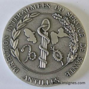DIASS ANTILLES Médaille de table 7 cm